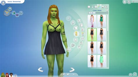 The Sims 4 - Sexy BabyDoll ( Clothing ) RecolorRetextured