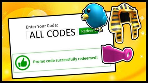 ALL ROBLOX PROMO CODES! (2014 - 2020) - YouTube