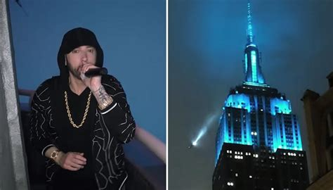 Eminem performs 'Venom' at the top of the Empire State