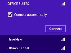 How do I connect to my WiFi in Windows 8 using Network