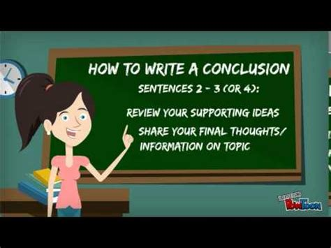 How to write a Conclusion - YouTube
