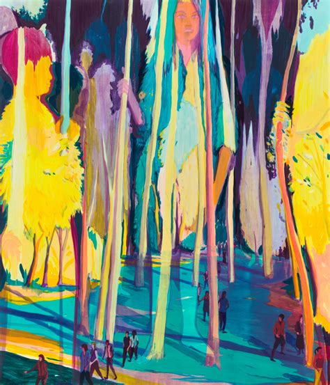 Jules de Balincourt, If Trees Spoke and We Listened, 2017