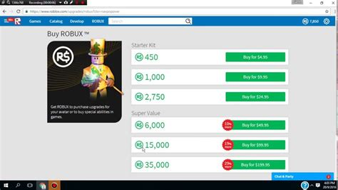 Buying 35K robux-ROBLOX - YouTube